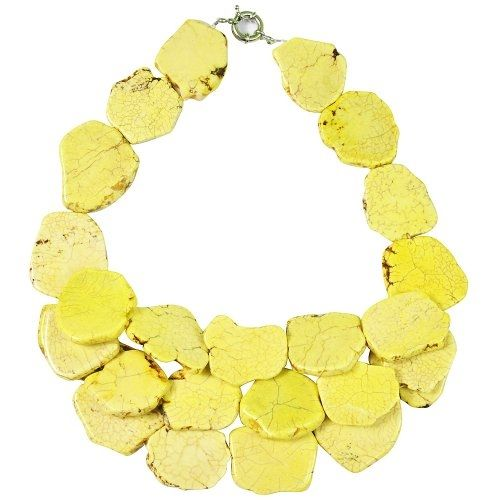 Yellow Turquoise Necklace