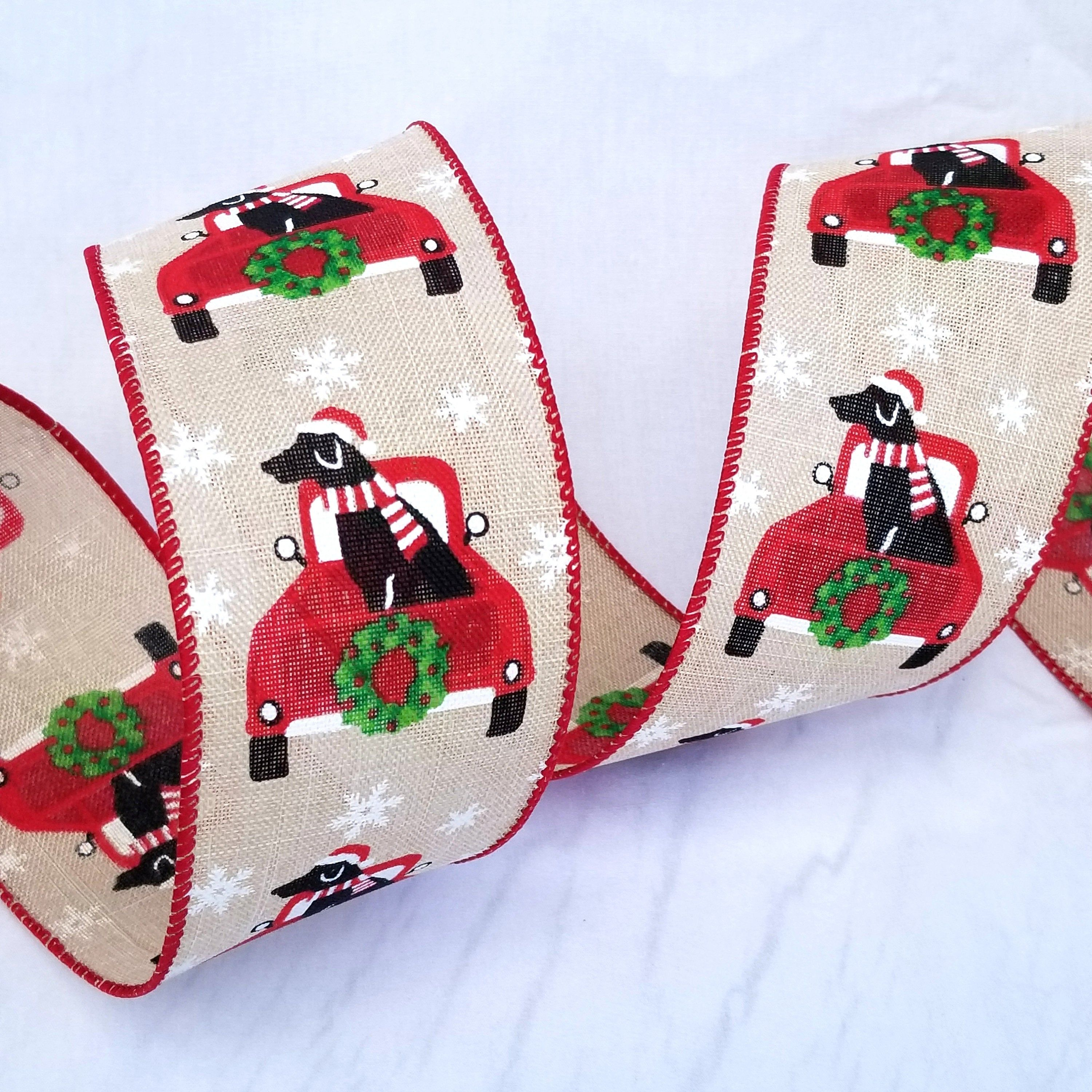 "5 Yd Christmas Santa Claus Wired Ribbon 2 1//2/""W"