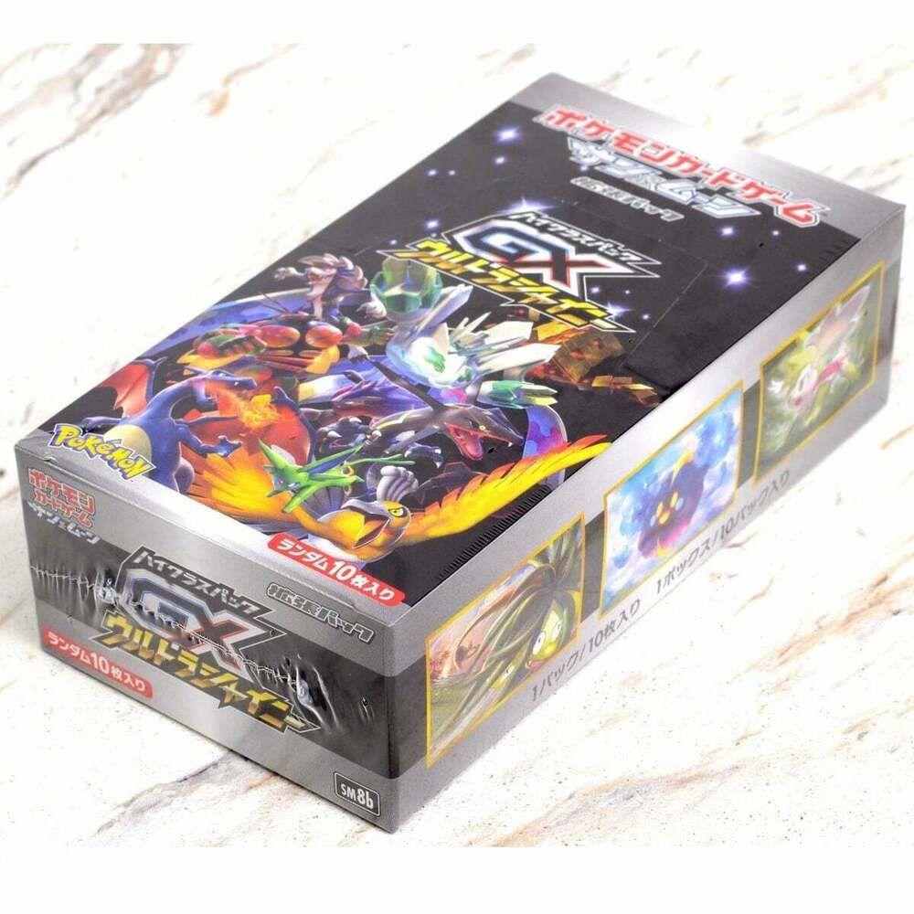 Verzamelingen Verzegelde boosters Pokemon Cards Ultra Shiny GX SM8b Japanese Booster Pack Box HIGH CLASS Sun&Moon
