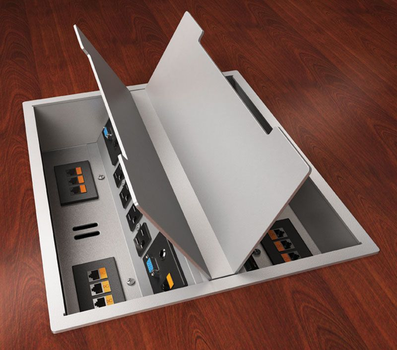 Peachy Power Data Grommets Installed In A Desk Training Table Or Beutiful Home Inspiration Aditmahrainfo