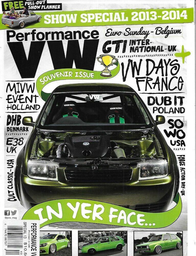 Performance VW Auto Magazine Souvenir Special Issue Mini ...