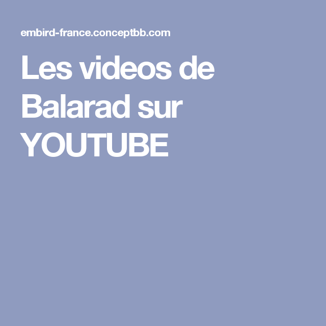 Les Videos De Balarad Sur Youtube Embird Pinterest