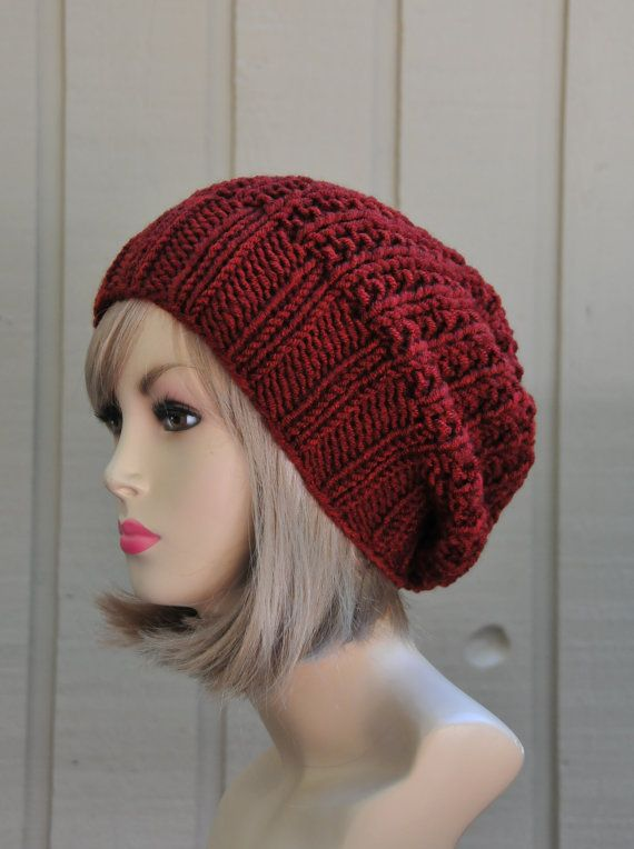 a9668531095 Knit Slouchy Hat Slouchy Beanie HatSlouch Hat by PhylPhil on Etsy