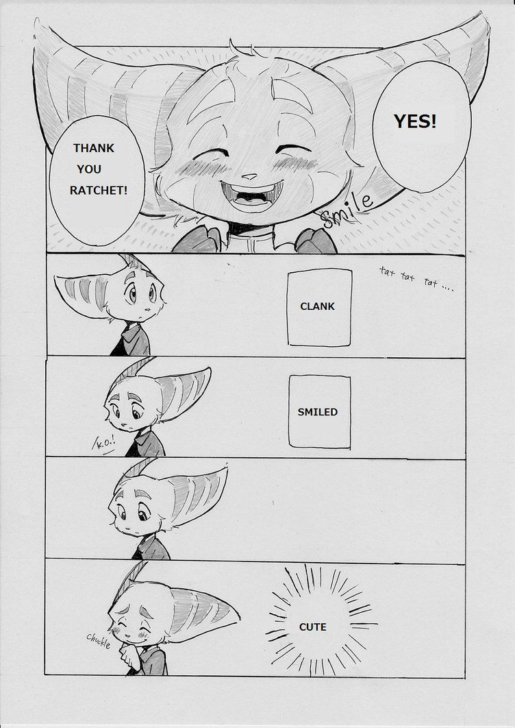 first time clank smiled yeeeaaaaay next page cmanga part14