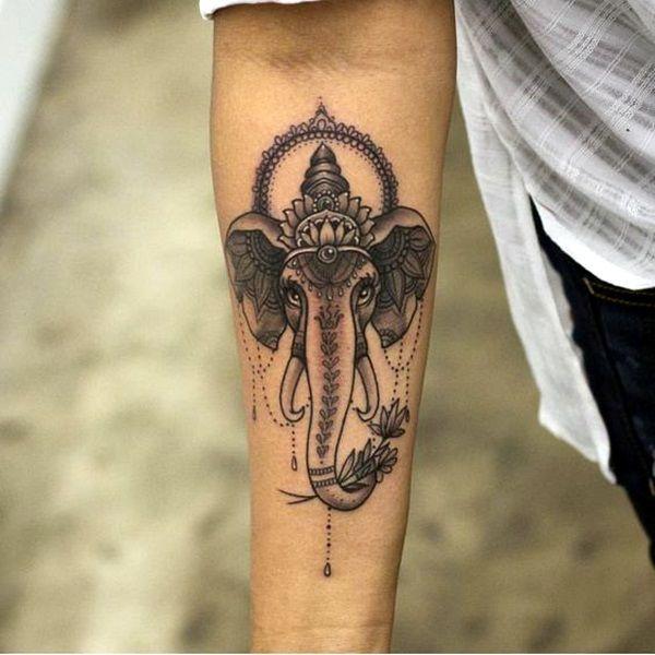 40 Lovely And Cute Elephant Tattoo Design Bored Art Elephant Tattoo Design Elephant Tattoos Mandala Elephant Tattoo
