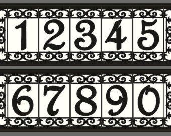 Framed Spanish House Numbers Address Tiles Set With Frame Spanish Iron Design Various Colors Available Desenler Harfler