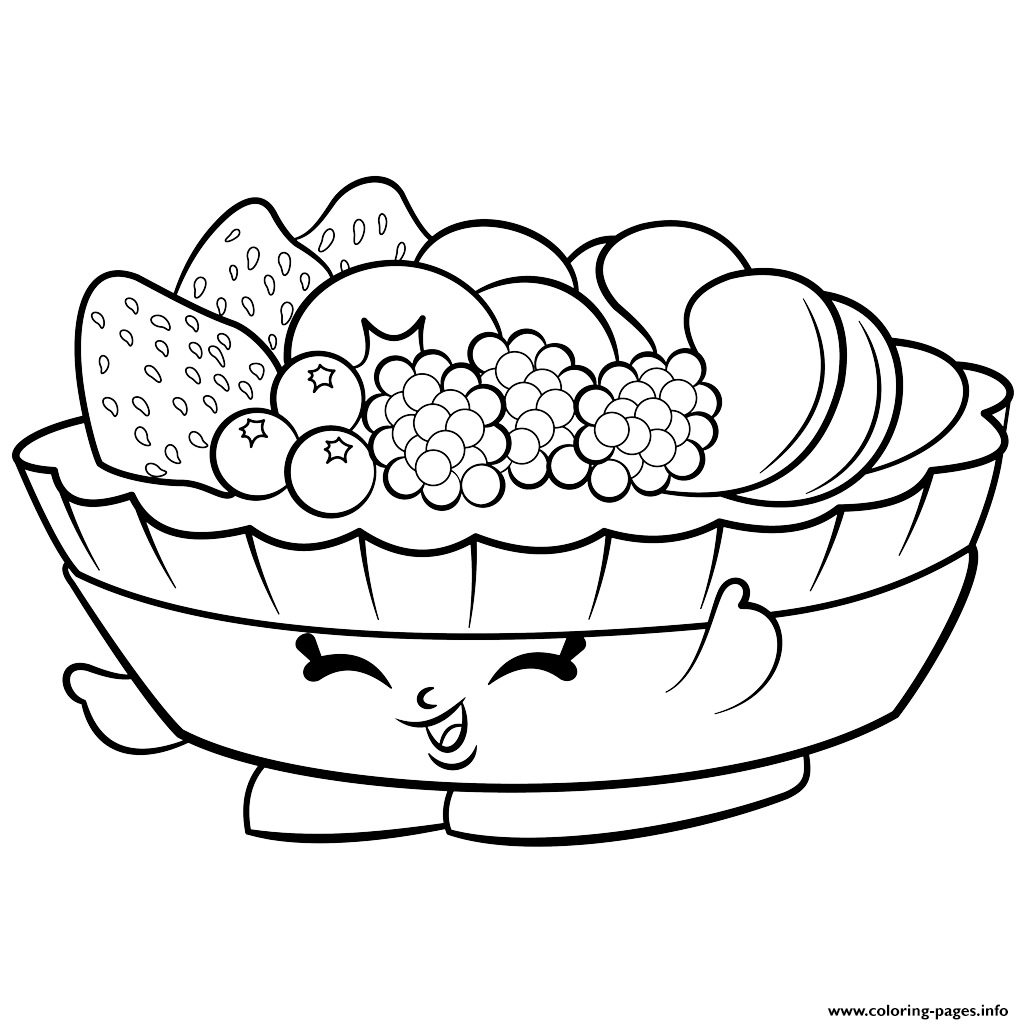 Coloring page of a fruit basket 2 - Print Exclusive Fifi Fruit Tart To Color Shopkins Season 2 Coloring Pages
