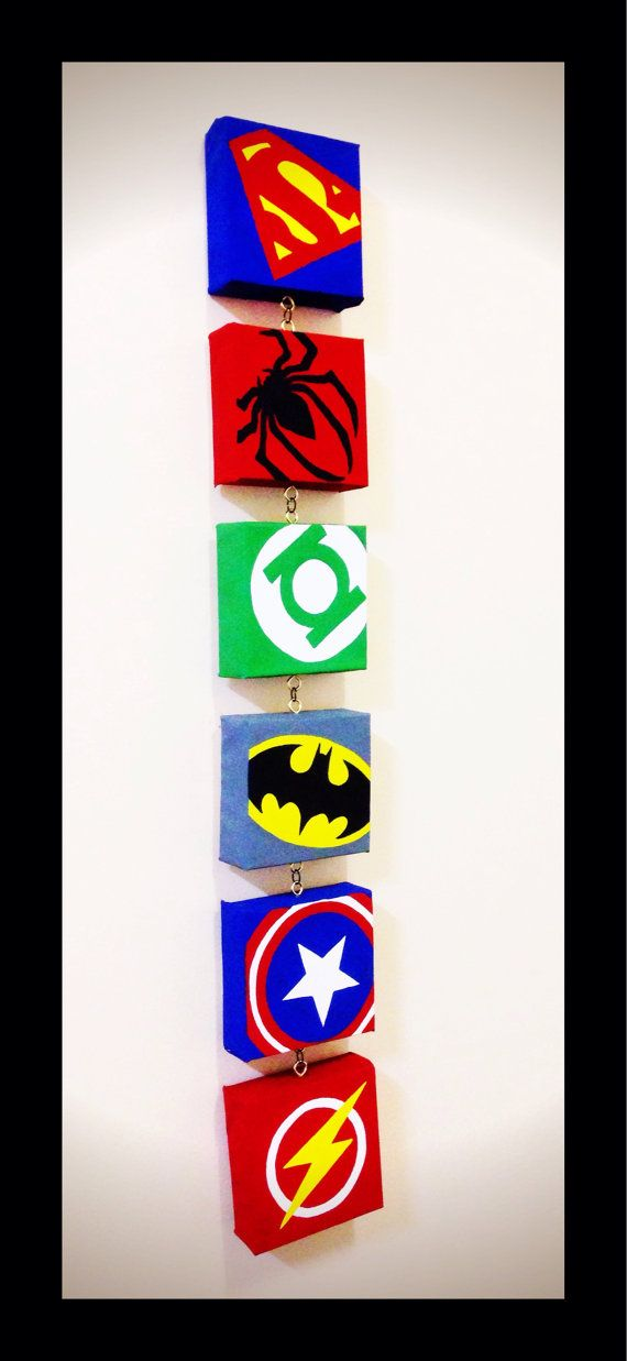Superman spiderman linterna verde batman capit n for Dormitorio super heroes