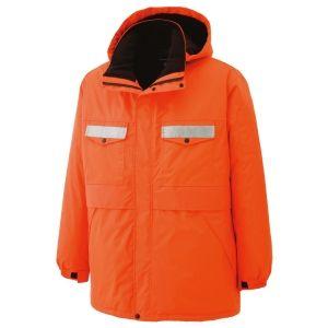 リサイクル 防水帯電防止防寒コート RC2004 上 オレンジ ミドリ安全