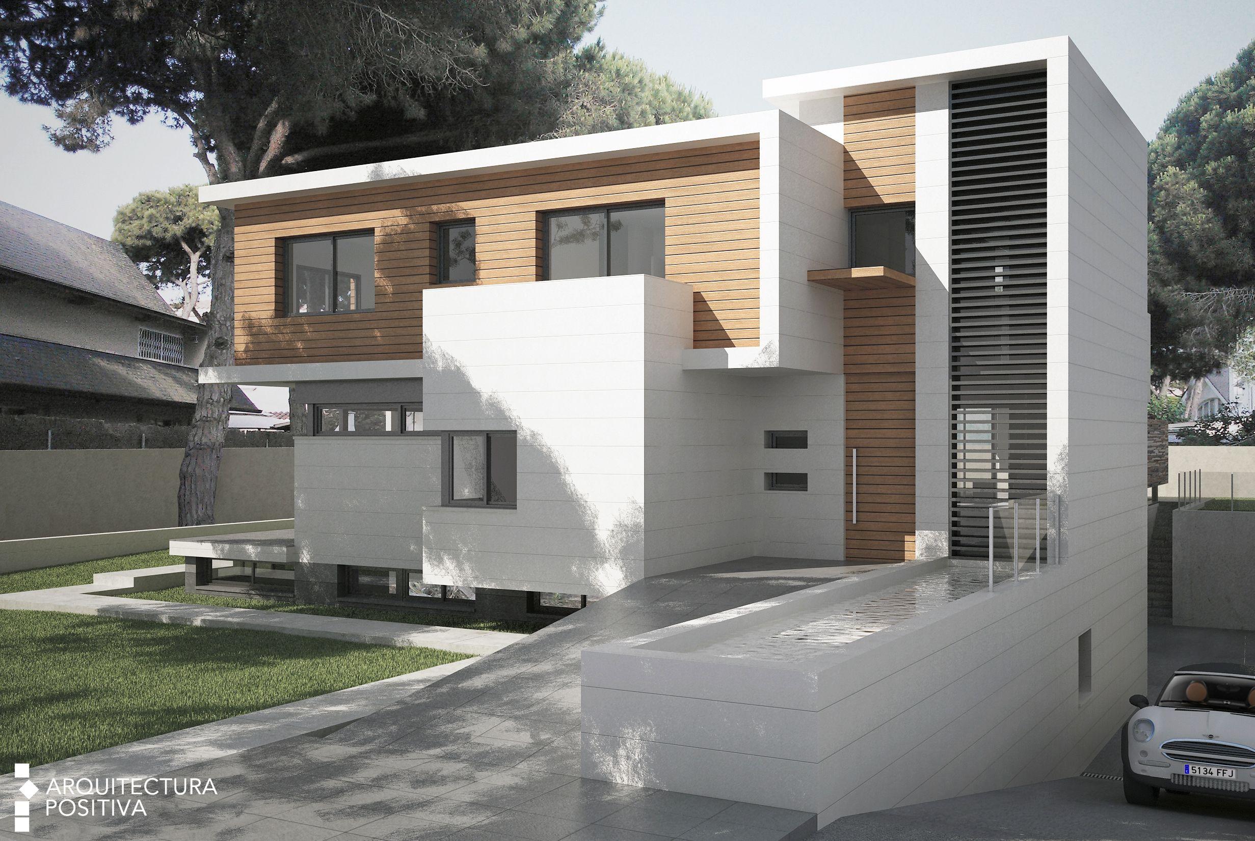 Propuesta de fachada para vivienda unifamiliar jvc for Vivienda unifamiliar arquitectura