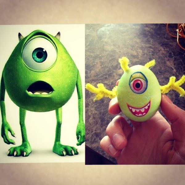 DIY Monsters INC Easter Egg Mike Wazowski Youre Never