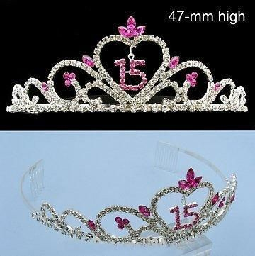 New Quinceanera 15 Birthday Crown Tiara T55