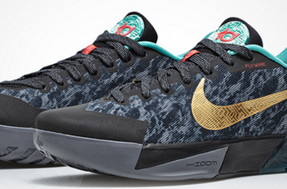First look at the new Nike KD Trey 5 II China. The Kevin Durant takedown  model takes inspiration from the basketball-crazed , with ornate gold  Swoosh on .