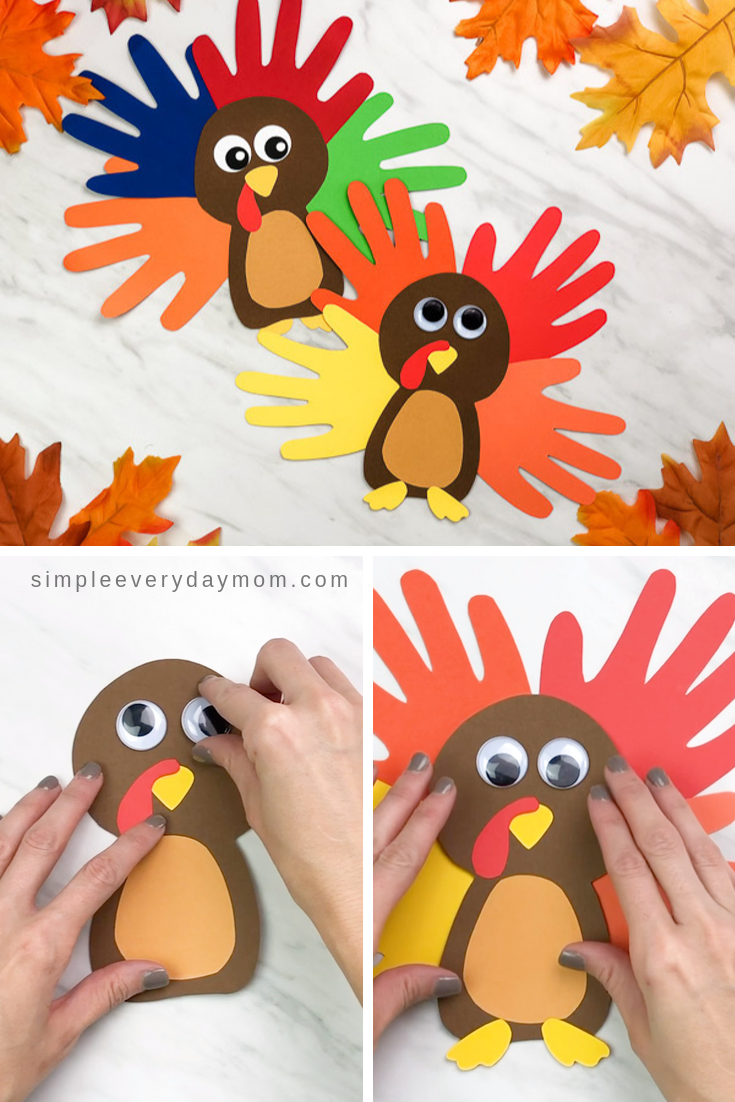 A Colorful Cute Turkey Handprint Craft For Kids Turkey Crafts