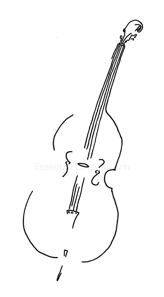 Double Bass // Minimalist Music Artwork // by