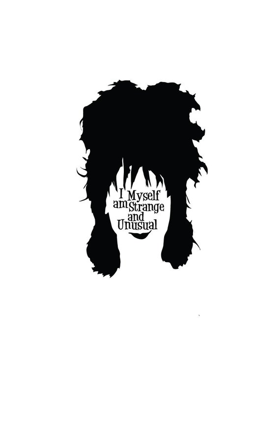 Beetlejuice Cult Film Portrait And Quote Poster Lydia Deetz