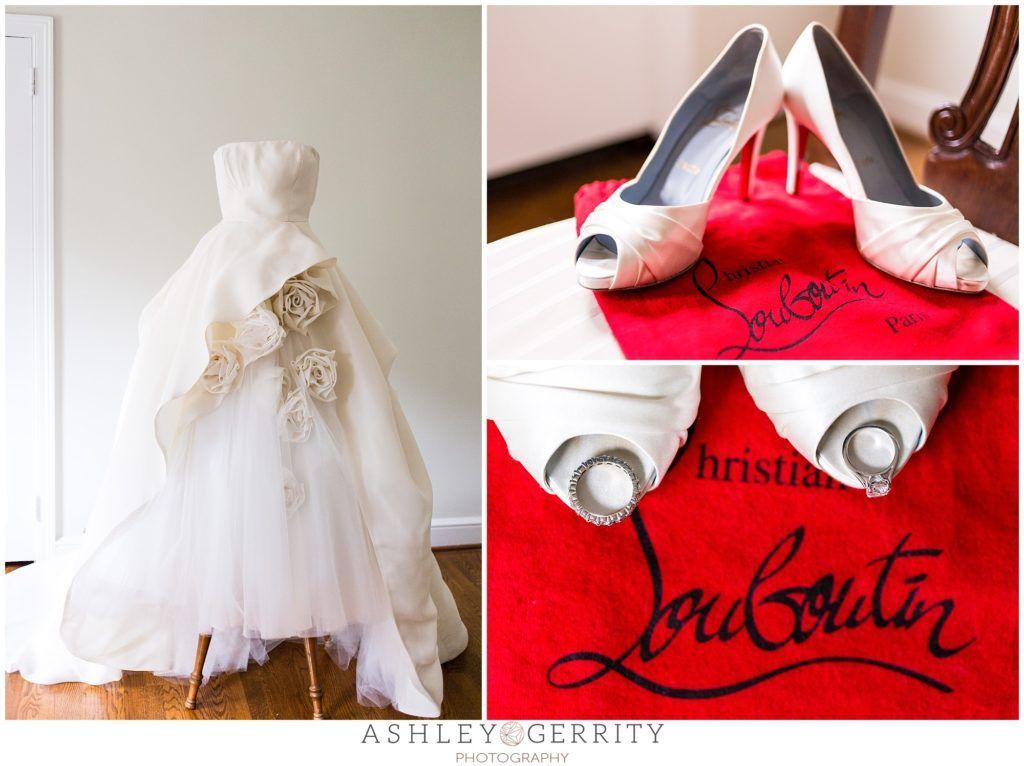 Wedding Dress Champagne Ivory Louboutins Christian Louboutin