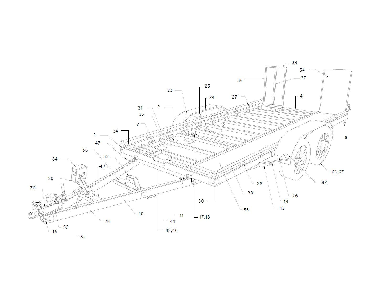 Car Hauler Trailer Plans DIY Homemade Open Auto Carrier