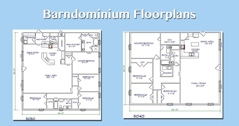 Top 5 Metal Barndominium Floor Plans For Your Dream Home Hq Plans Metal Building Homes Barndominium Floor Plans Barndominium Metal Building Homes