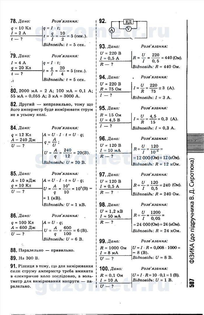 Готовые контрольные задачи по физике 8 класс автор марон списать