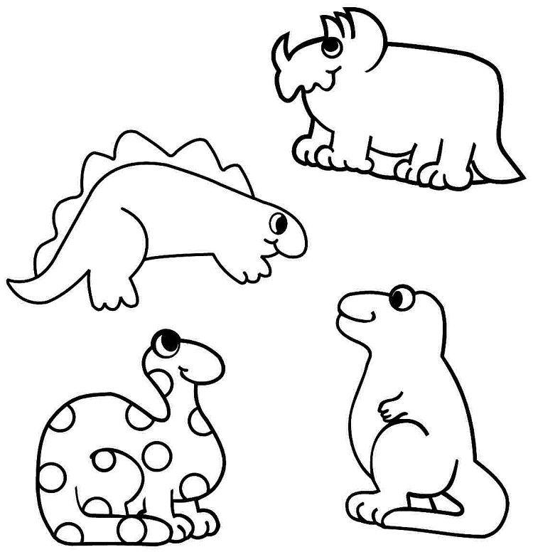 pre-k dinosaur coloring pages | Coloring Pages For Kids in ...
