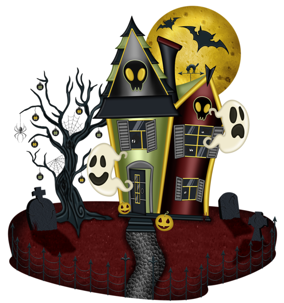Halloween House PNG Large Picture | ~*♧️Clipart~Halloween ...