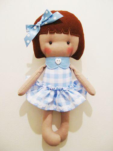 made using the Elf Pop Saffron Doll Sewing Pattern | Fieltro y trapo ...