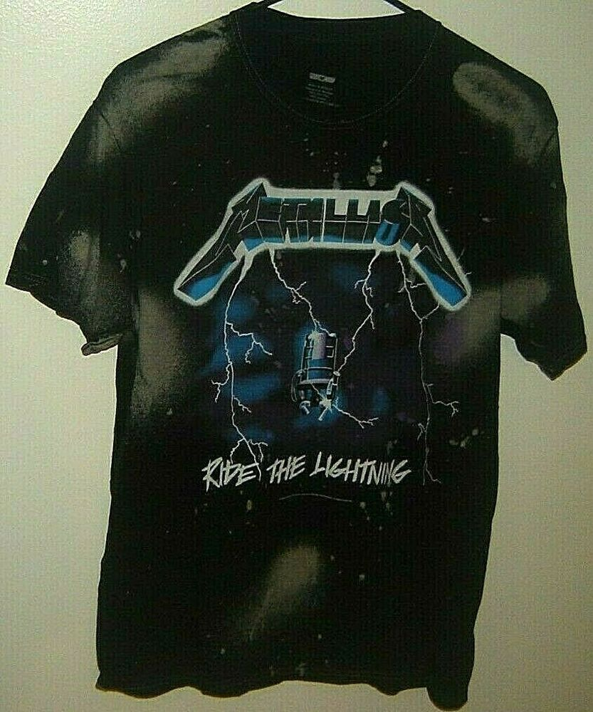 Metallica Ride The Lightning Black 2 Sided T Shirt Size M 2007 Fashion Entertainment Memorabilia Musicmemorabilia Ro Ride The Lightning Shirt Size T Shirt