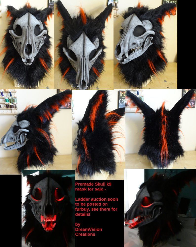 Skull K9 Premade Mask by DreamVisionCreations on deviantART | LARP