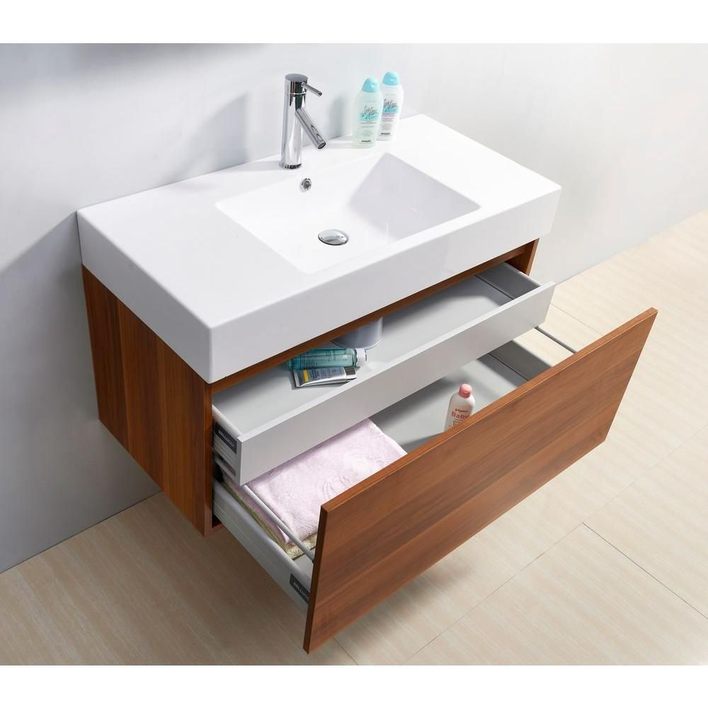 Virtu USA Zuri 39 37 in. W Vanity in Plum with Poly-Marble Vanity ...