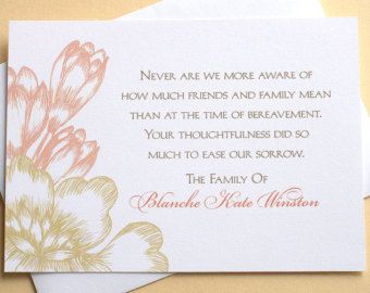 Thank You Funeral Cards with Grey Flowers Custom by zdesigns0107 ...