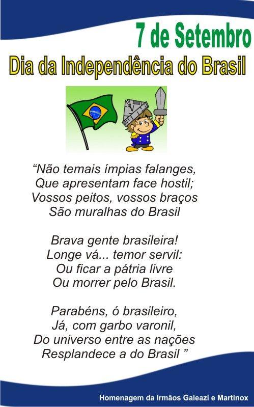 Frases Para O Dia Da Independencia Do Brasil Pesquisa Google