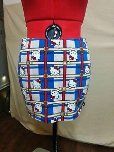 Hello Kitty Size Large Mini Skirt Bodycon Stretch Knit Cotton Authentic    eBay