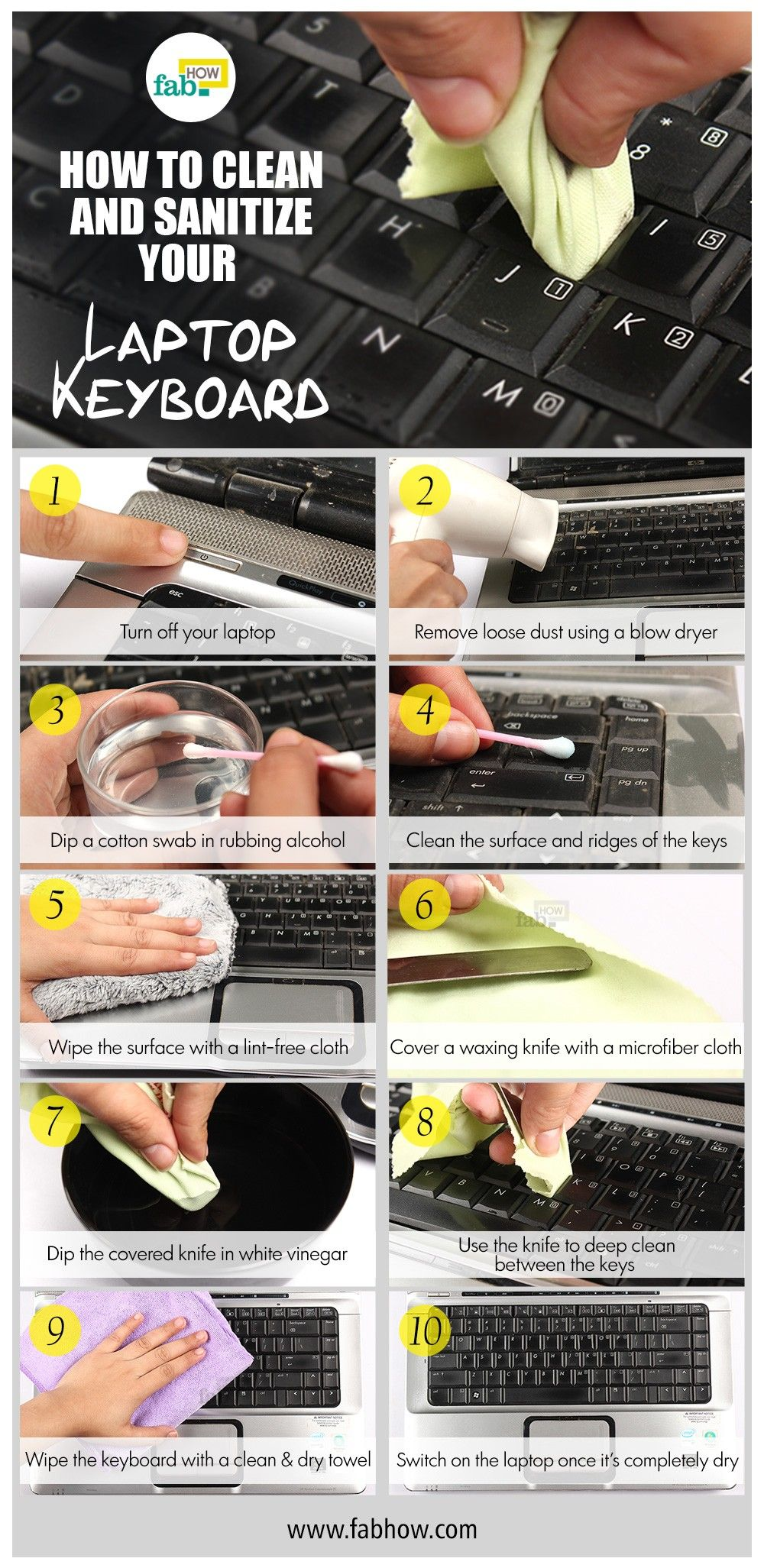 How to safely clean your laptop keyboard laptop keyboard
