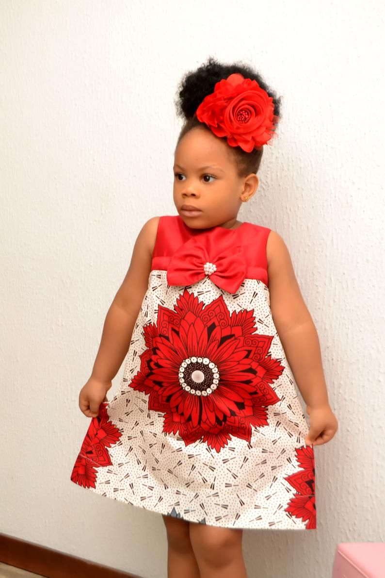 African Inspired Dress/ African Fashion/ African Style/ Ankara Girl Dress/ Kiddies Ankara Dress