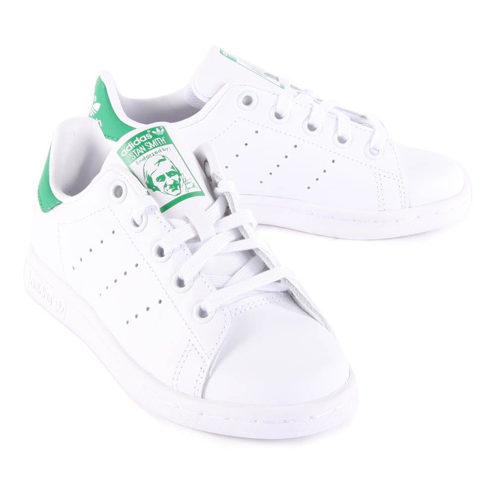 Baskets Lacets Cuir Stan Smith Vert | Chaussures adolescent