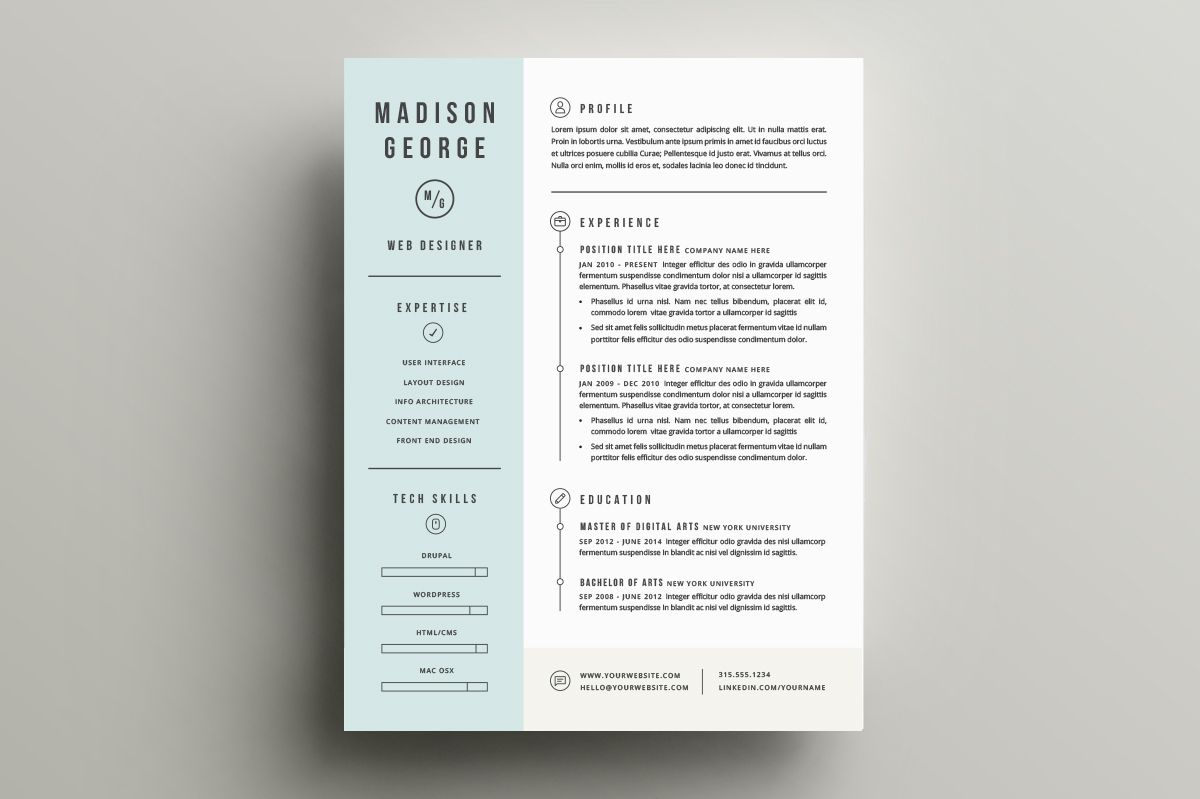 Resume  Cover Letter Template By Refinery Resume Co On Creative
