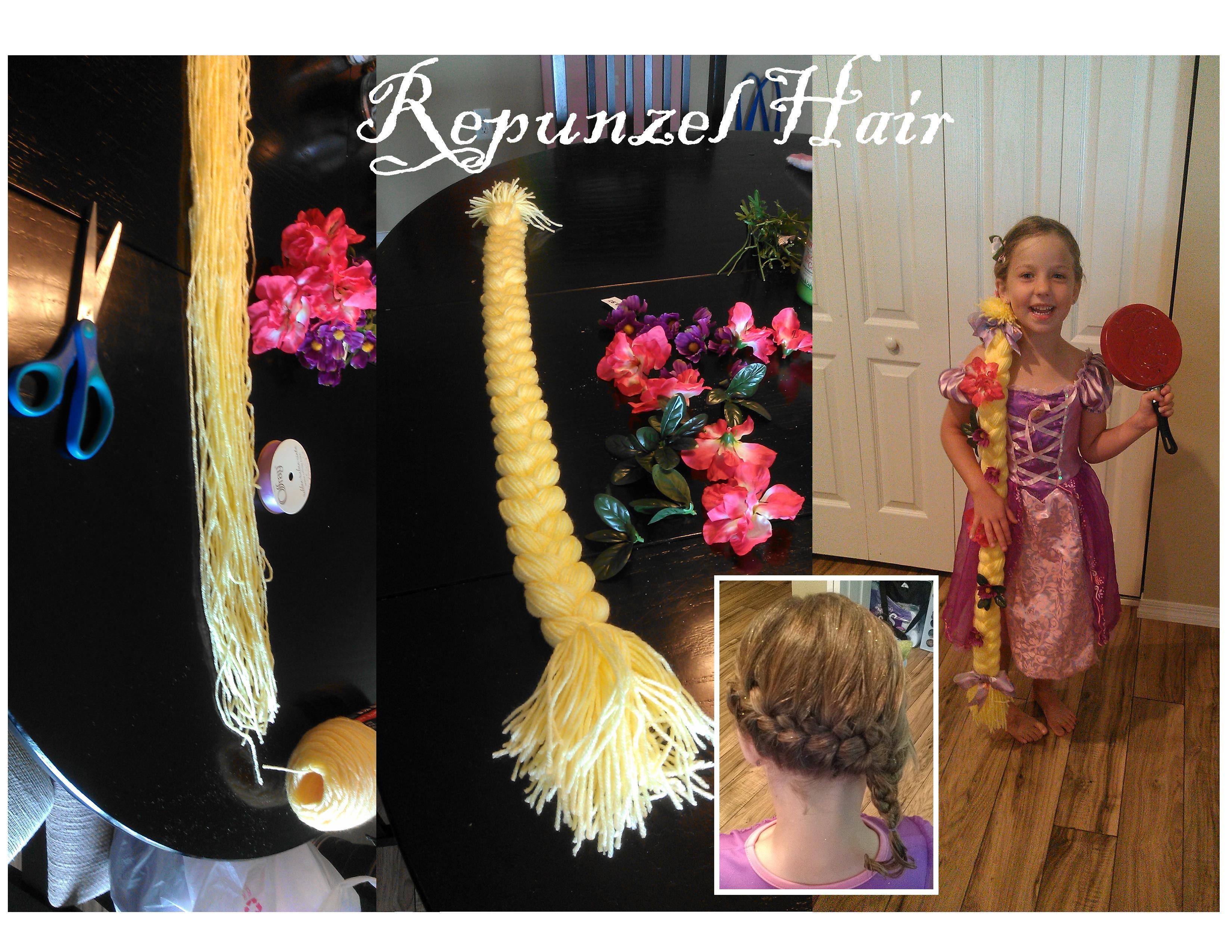 Repunzel Hair Yellow Yarn Nearly Whole Skeen Silk
