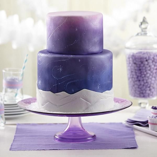 Snow Swirls Fondant Cake - Cool and colorful, this fondant-covered ...