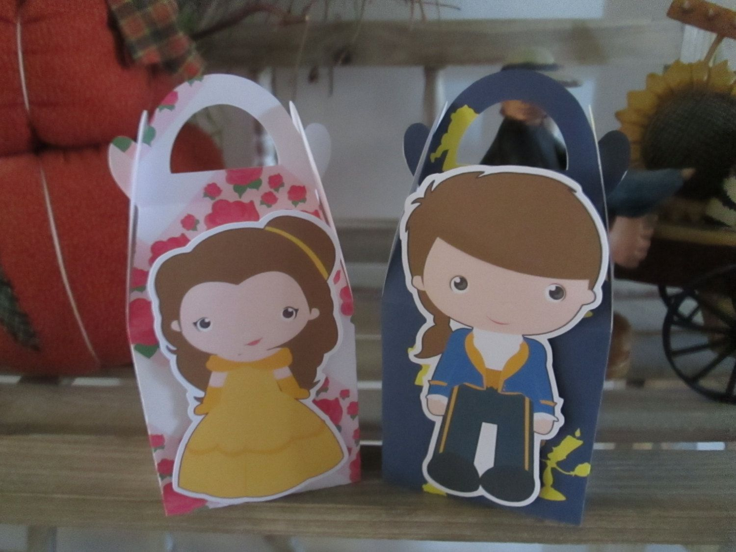 Belle and Her Guy Inspired  Gable Favor Boxes Set of 12 by zbrown5 on Etsy