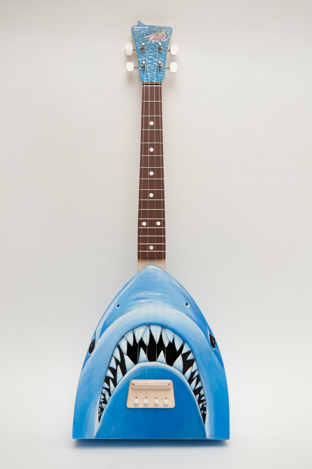 """If i was rich. Jaws ukulele """"get out of the water-lele"""". $700.00, via Etsy."""