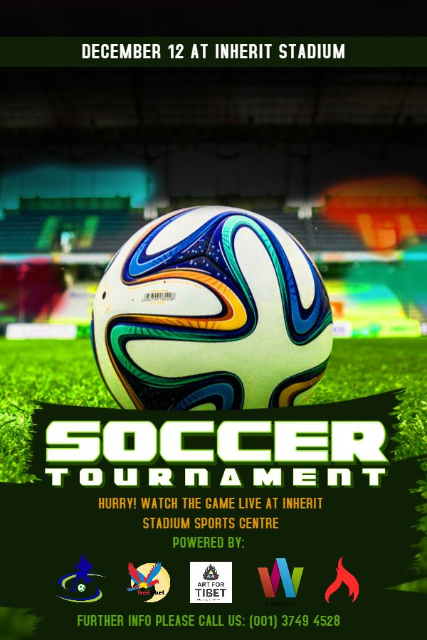 Soccer Tournament Poster Flyer Social Media Design Template