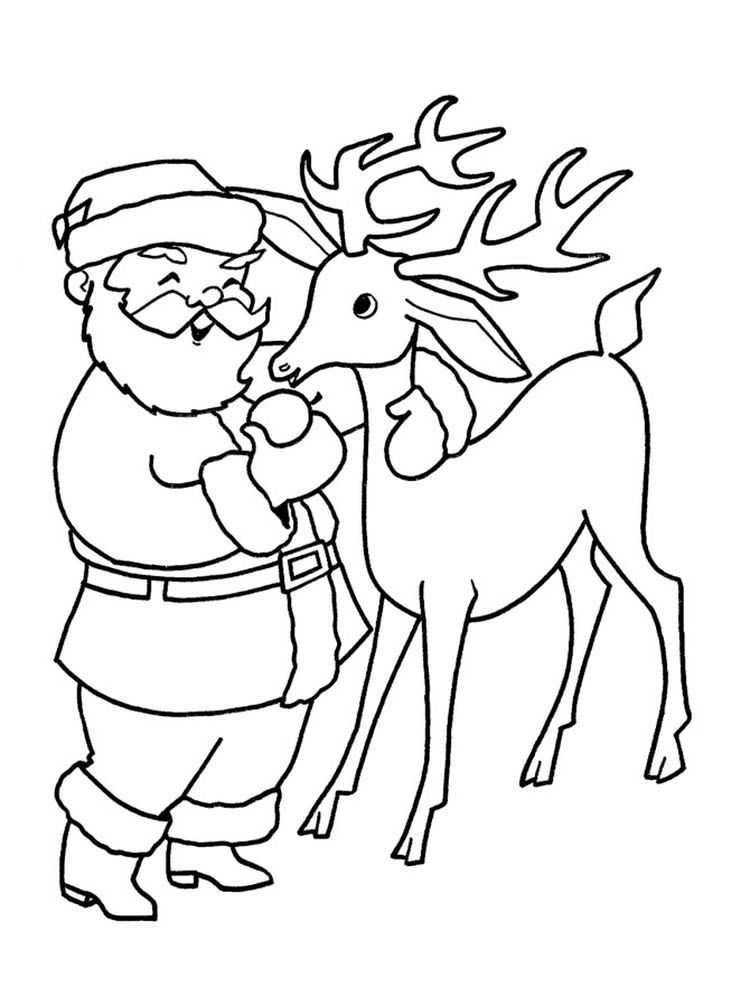 Coloring Page Of A Reindeer