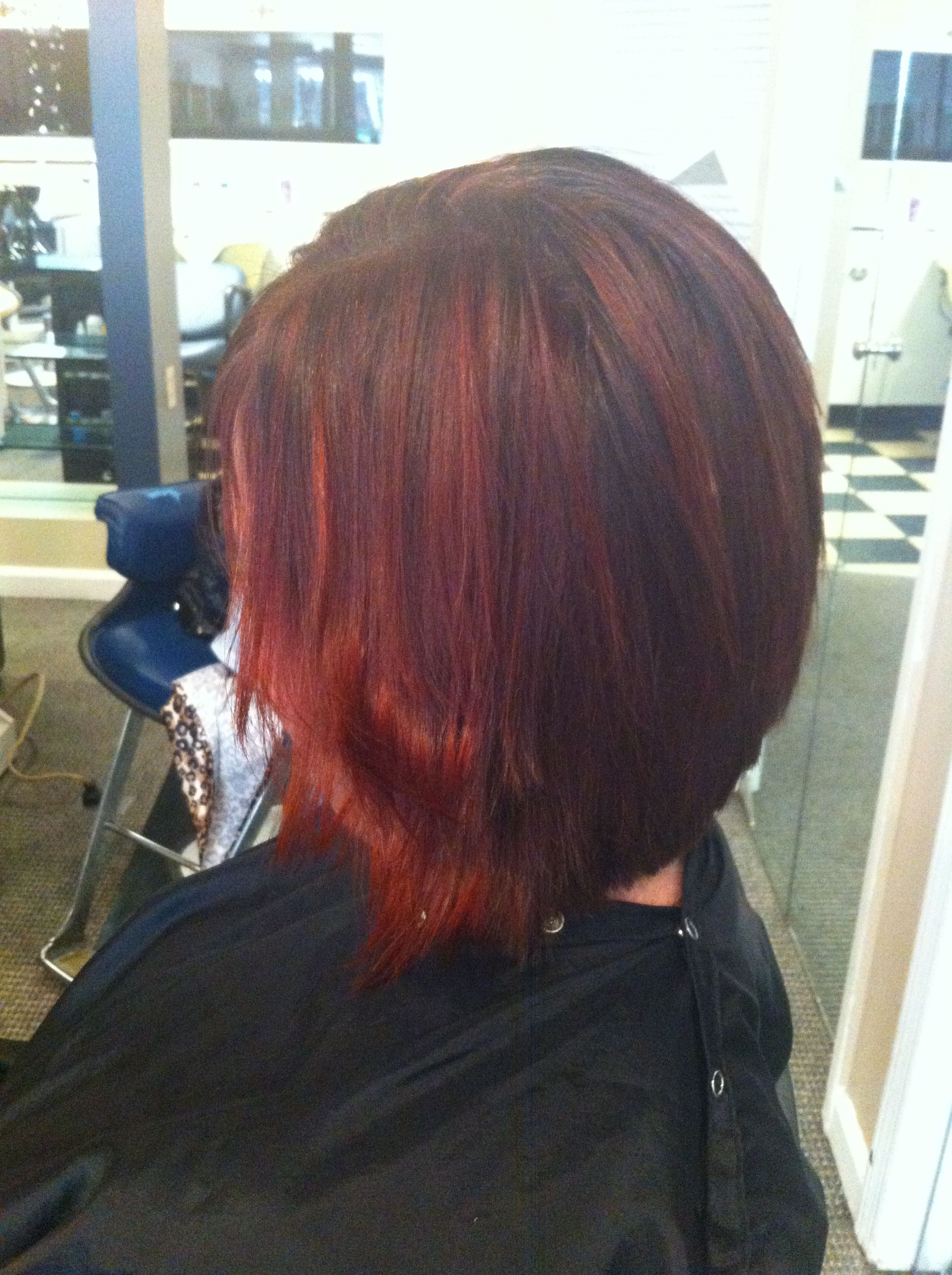 Hd red on red brown hair by heather Timberlake hair Pinterest