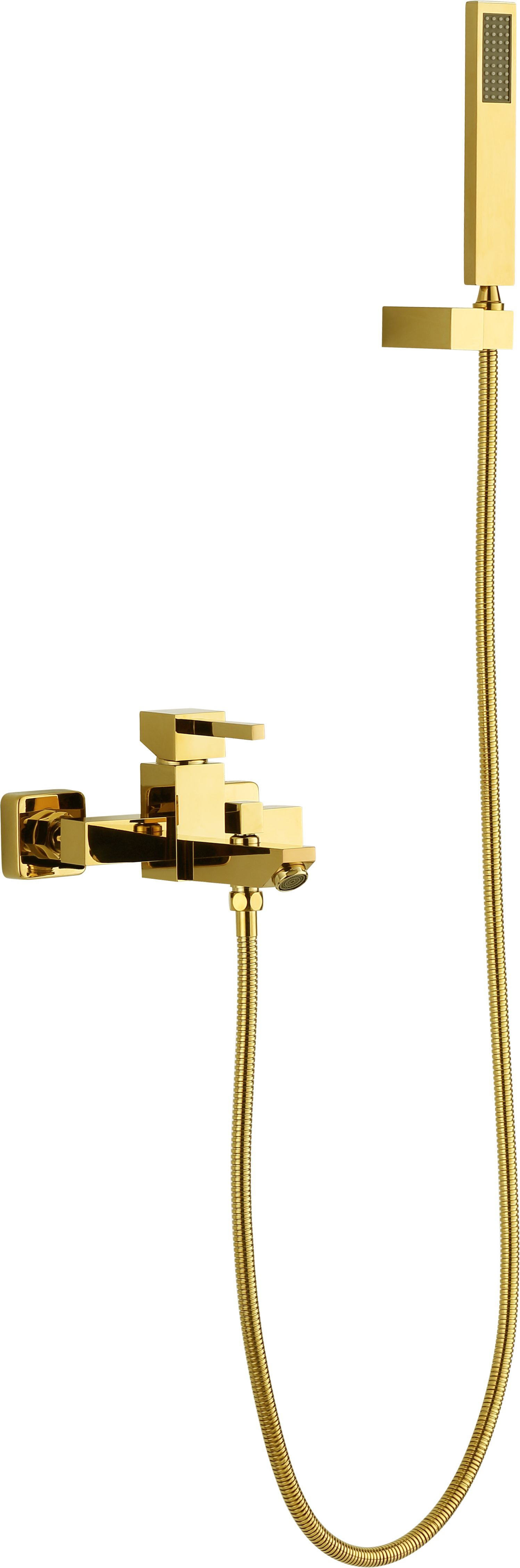 Kaiping Gold Square Thermostatic Bath Shower Mixer & Slide Rail Kit ...