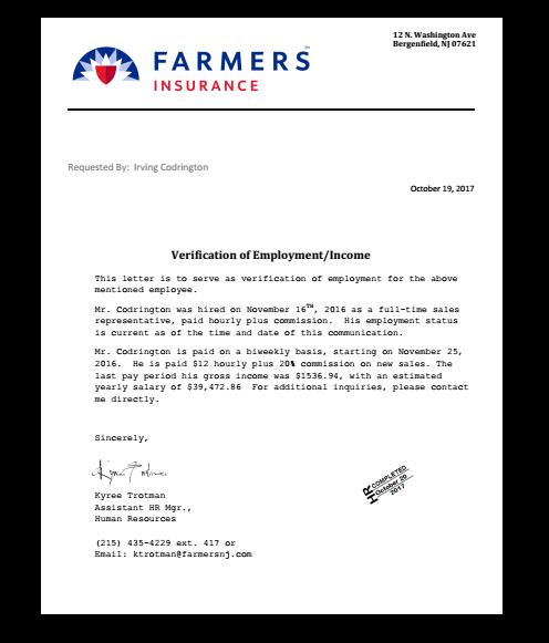 Fake Employment Verification Letter from i.pinimg.com