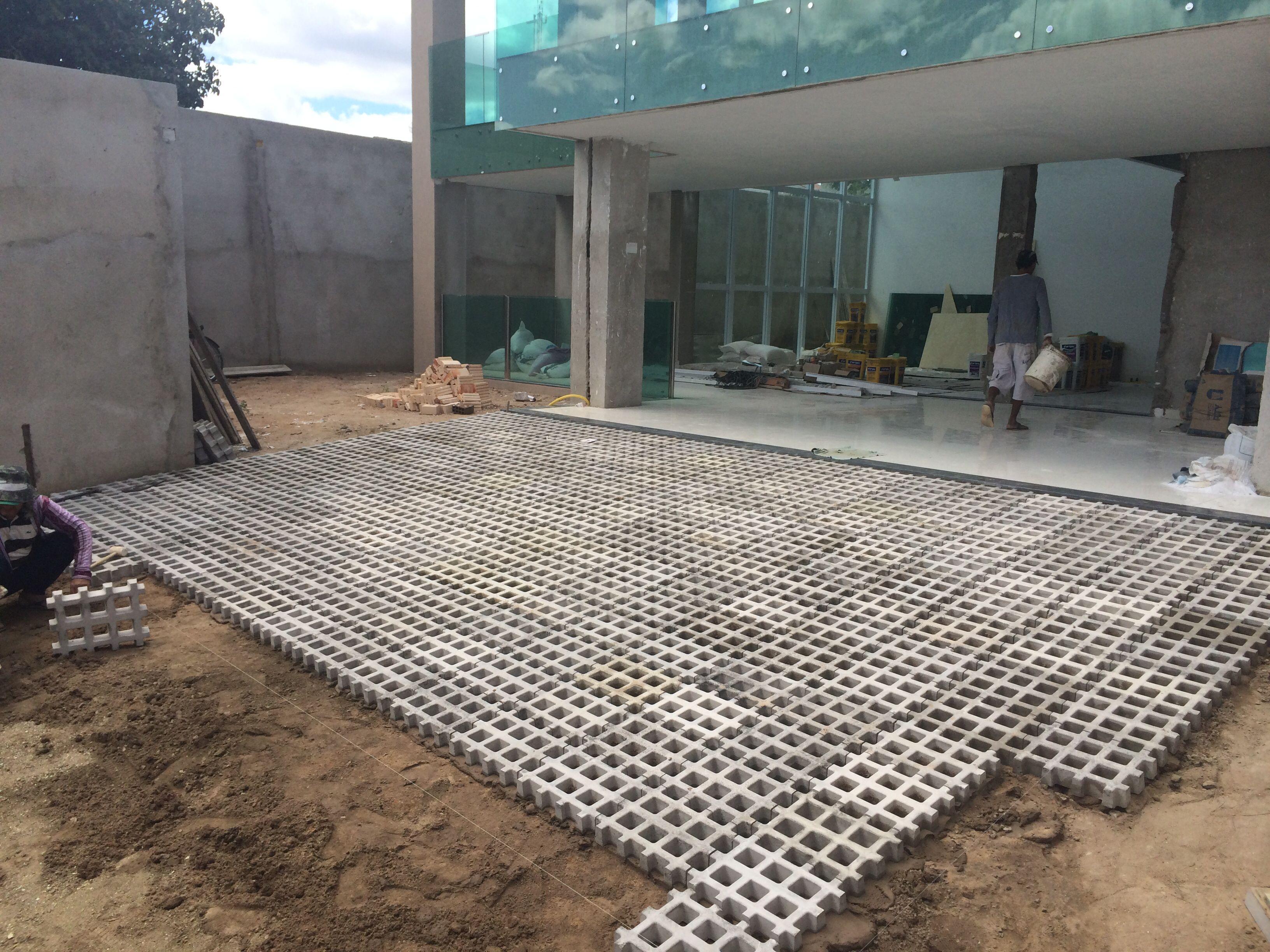 Outdoorküche Holz Joinville : Piso para rampa de garagem casa nova pinterest tijolo piso e