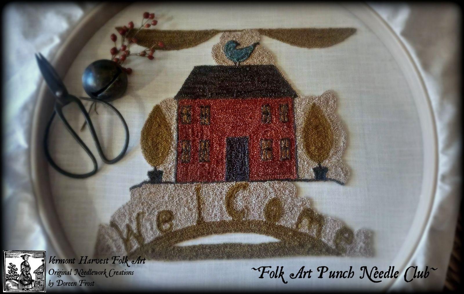 ~ Del arte popular de sacador de la aguja del club ~ - Vermont cosecha arte popular de Doreen Frost, la aguja del sacador primitivo, sacador de la aguja de bordado, sacador de la aguja, la aguja Punch, Patrones sacador de la aguja, Clases sacador de la aguja, apliques de lana, alfombras de perforación, Oxford sacador de la aguja, Vermont Artista , Vermont arte popular