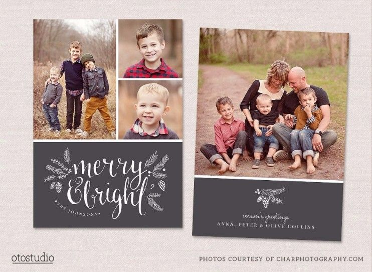 Printable Holiday Card Templates  WordPsdAiIndesignPdf