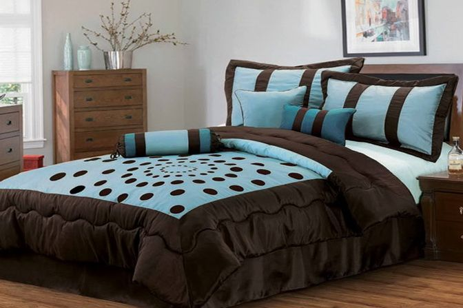 Chocolate Brown And Tiffany Blue Bedding | Tiffany blue ...